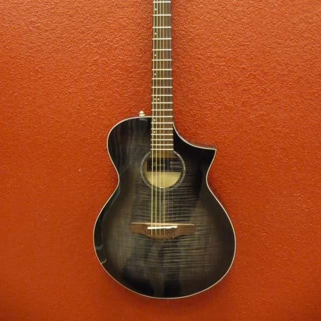 Ibanez AEWC400 Transparent Black Sunburst, Acoustic Guitar, w/Pickup image