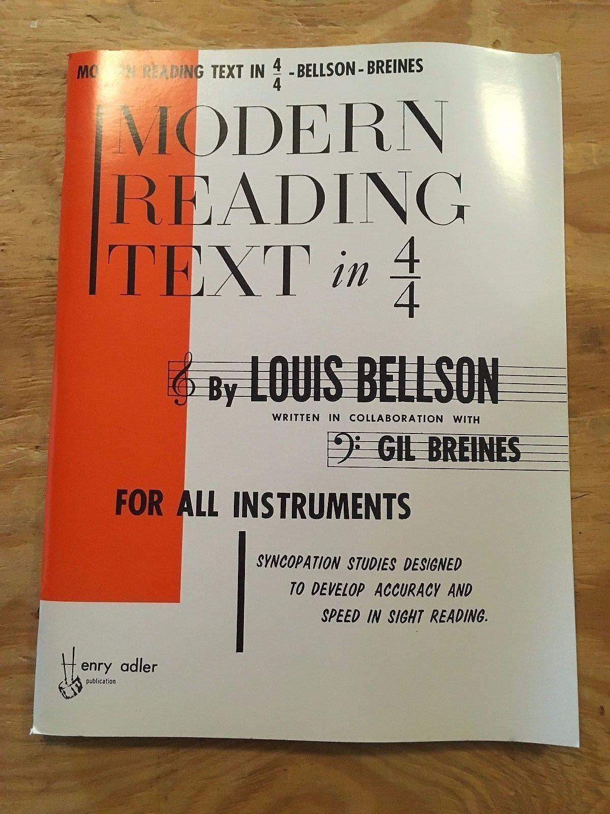 LOUIE BELLSON MODERN READING TEXT PDF
