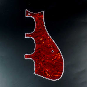 Custom Guitar Pickguard Fits Harmony H75 H78 Silvertone 1454 airline 7230 Red-tortoise