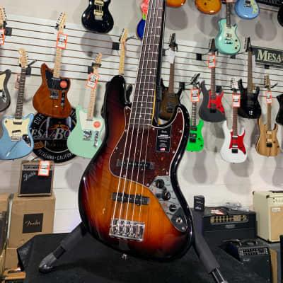 Fender American Professional II Jazz Bass V 3 Color Sunburst with Rosewood Fingerboard #632