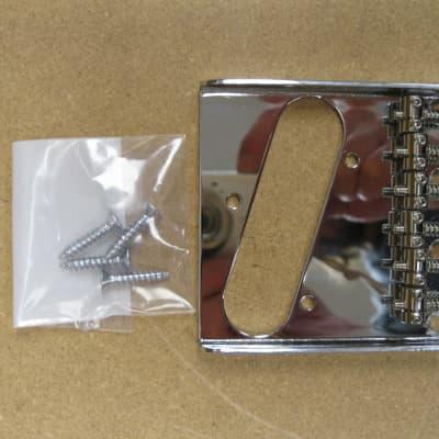 StewMac 6 Saddle Tele Bridge Chrome for sale
