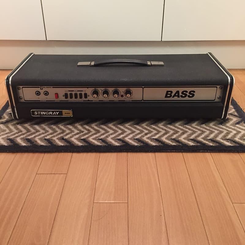 carlsbro 1977 stingray bass head black w original cover ex reverb. Black Bedroom Furniture Sets. Home Design Ideas