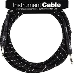 Fender Custom Shop BLACK TWEED Electric Guitar Cable, Straight Ends, 20' ft for sale