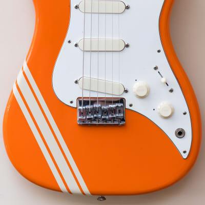 1982 Fender USA Bullet S3 Stratocaster Telecaster Competition Orange guitar with original hardcase for sale