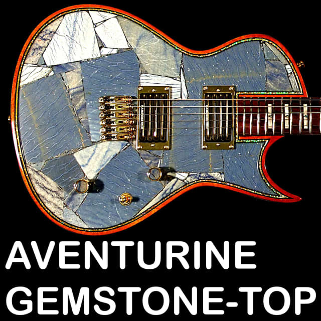 Your chance to be the first and only lucky devil playing a guitar with real Aventurine gemstone top! image