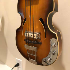 Klira 162 Violin Twen Star Hollowbody Bass for sale