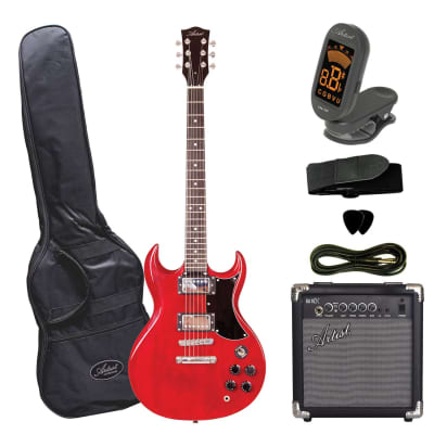 Artist AG1 Red Electric Guitar with Accessories plus Amp for sale