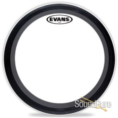 "Evans 24"" EMAD Batter Drumhead Clear"