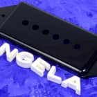 Lindy Fralin Black P90 Dog Ear Short/Low Neck Pickup Cover For Gibson Dogear NEW image
