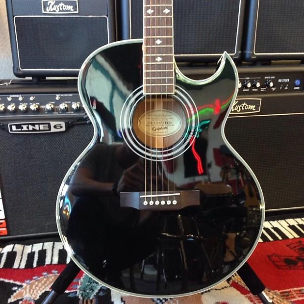 Epiphone pr 5e electro acoustic ebony