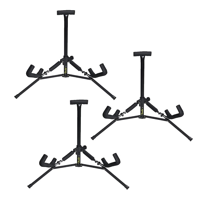 Fender Mini Acoustic Guitar Stand 3 Pack Reverb