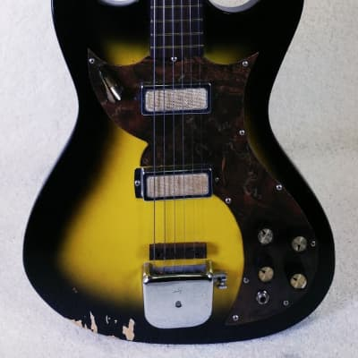 Montclair Electric Guitar, made by Kay, VINTAGE 1965,Tobacco Sunburst: for sale