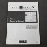 Korg Electribe ES-1 Original Owner's Manual