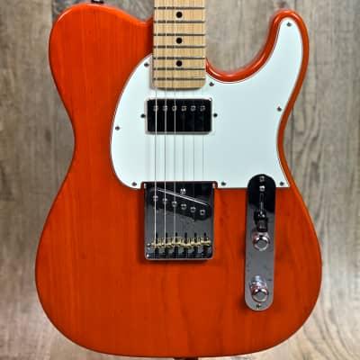G&L Fullerton Deluxe ASAT Classic Bluesboy Orange MP w/case 7.25 lbs for sale
