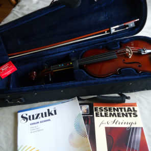 Palatino VN-450-3/4 Allegro Ebony 3/4-Size Violin Outfit w/ Case, Bow