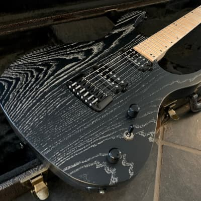 Acacia Hades Pro 6 Weathered Satin Black Finish Guitar w/Duncan Distortion PU's & Hard Case for sale