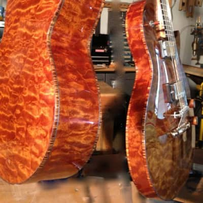 The Tree: The Four Elements - The Element Fire-Dreadnaught style Archtop Ribbecke@Healdsburg Guitars for sale