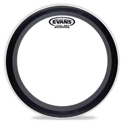 "Evans BD22EMADHW EMAD Heavyweight Clear Bass Drum Head - 22"""