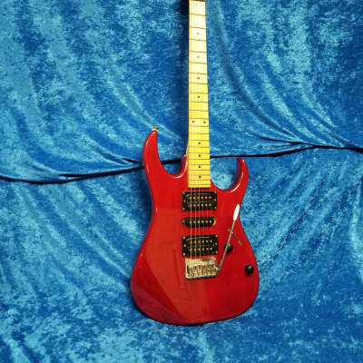 Ibanez EX Series 170 1992 See-Thru Red Super Rare Finish Extremely Rare Maple Neck High End Korean for sale