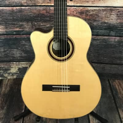 Kremona Left Handed Rondo R65CWC Cutaway Classical Acoustic Electric Guitar w/ Truss Rod for sale