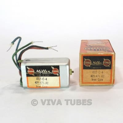 NOS NIB Miller 312-C6 Output Transformer Tweet Filter 455kHz