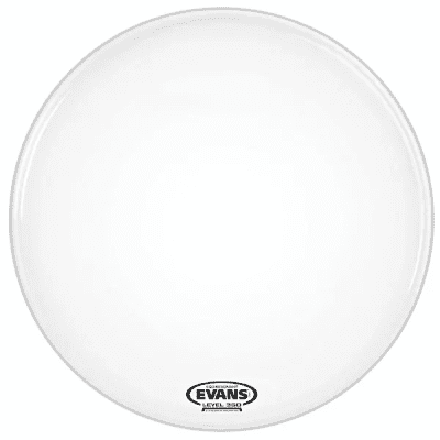 """Evans BD18RSW-NP EQ3 Resonant Smooth White Bass Drum Head with No Port - 18"""""""