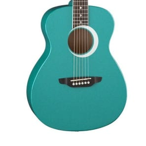 Luna Aurora Borealis 3/4-Size Acoustic Guitar - Teal Pearl for sale