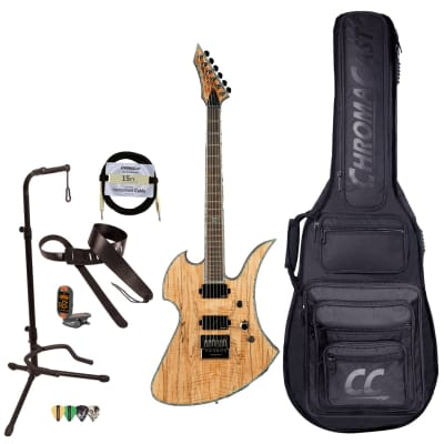 BC Rich Guitars Mockingbird Extreme Exotic Electric Guitar with EverTune , Case, Strap, and Stand, Spalted Maple for sale