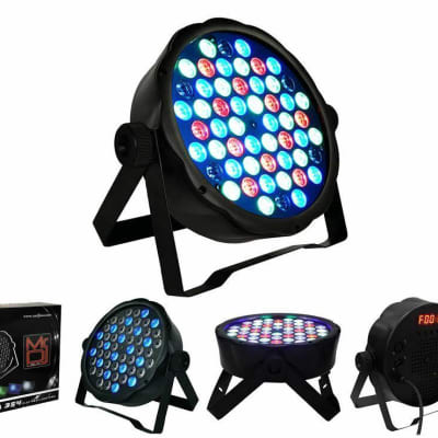 MR. DJ MEGA354 DJ PARTY CLUB STAGE SHOW LIGHTING FLAT PAR LIGHTING 54X1W RGBW
