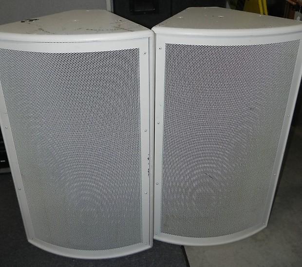 Vintage Qsc Md F122 124r 2 Way 70v Speaker Pair White Reverb