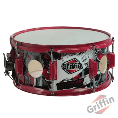 """Birch Wood Shell Snare Drum GRIFFIN 14""""x6.5 Oversize Large 2.5"""" Vents Percussion"""