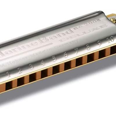 Hohner Marine Band Deluxe Harmonica - B Flat---key-b-flat