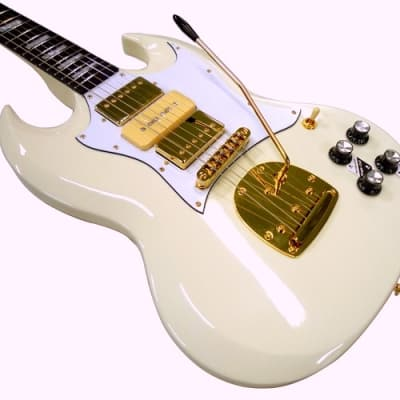 Dillion Big G Double Cutaway MODEL   White for sale