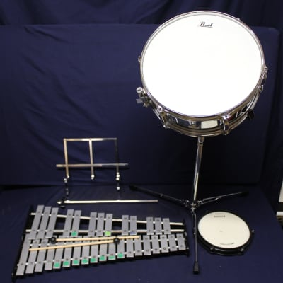 Pearl Kit Complete w/ Snare and Xylophone Chrome