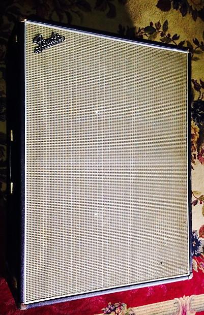Vintage 1969 Fender Bassman V T 2x15 Bass Speaker Cabinet Reverb