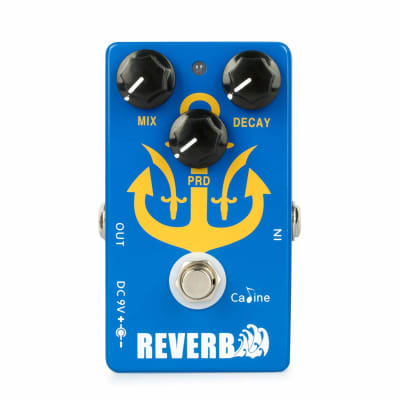 Caline CP-98 Reverb Pedal Electric Guitar Bypass Multi Effects Digital Blue Alloy Pedals Acoustic