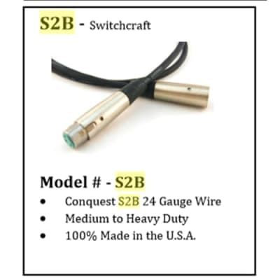 6' LOz Switchcraft A3F/A3M Microphone Cable