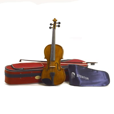 Stentor 1500-3/4 Student II Series 3/4 Size Violin Outfit w/Lightweight Case & Wood Bow