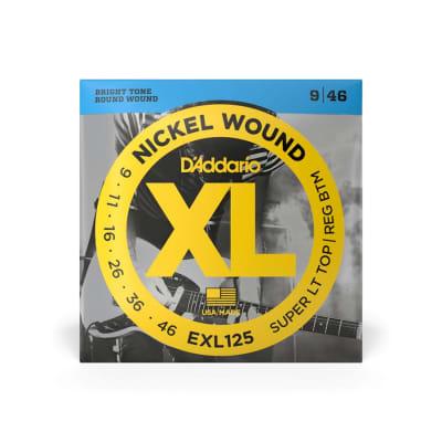 D'Addario EXL125 Super Light Top/Regular Bottom Nickel Wound Strings 9-46