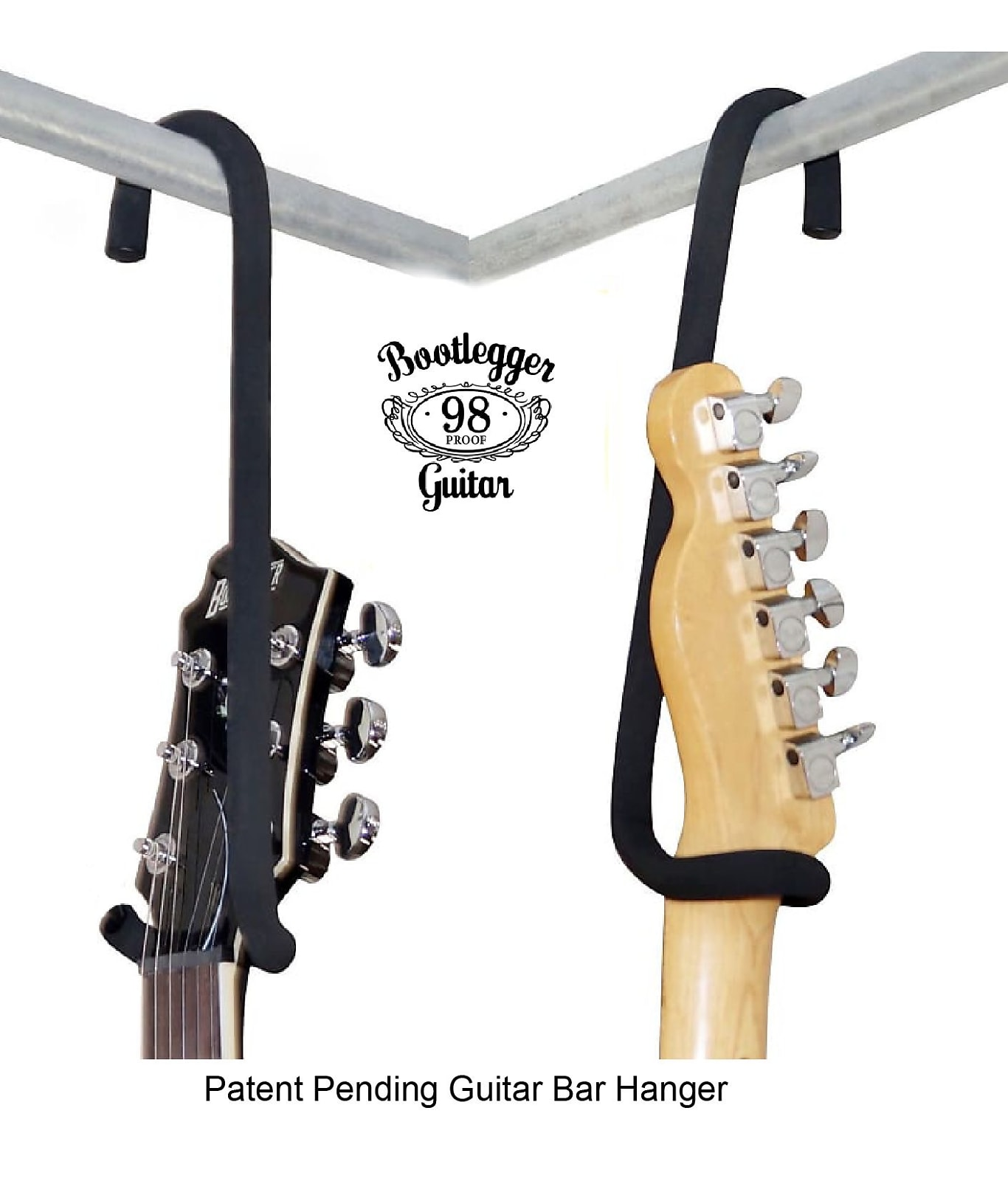 "Guitar Bar Hanger 12"" fits 6 & 7 string Guitars  and 4 & 5 string Bass Guitars"