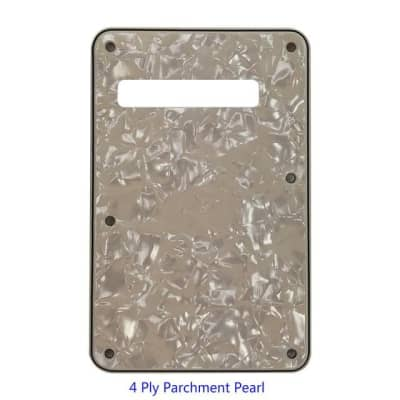 3 or 4 Ply Strat Tremolo Cavity Cover Backplate for Fender Stratocaster Modern Style Electric Guitar - Parchment Pearl for sale