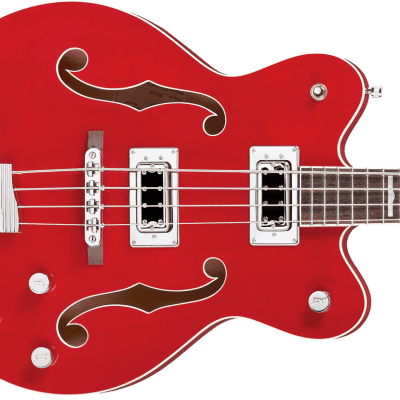 "NEW! Gretsch G5442BDC Electromatic Hollow Body 30.3"" Short Scale Bass Transparent Red"