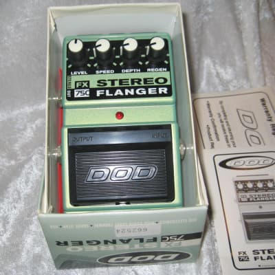DOD FX75C Stereo Flanger Pedal W/ Box and Manual for sale