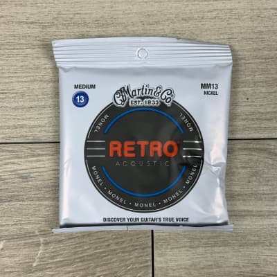 Martin MM13 Retro Acoustic Guitar Strings, Medium Gauge .013-.056