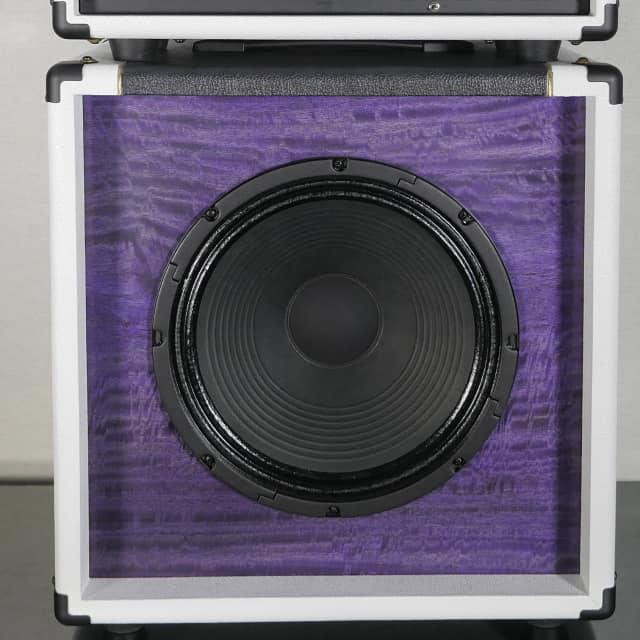 Tonewood Figured Mango Violet White/Graphite Oversized 1x12 w/ Attenuator & Purpleback Driver image