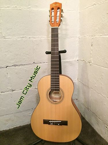 fender esc 80 travel mini 3 4 size classical acoustic guitar reverb. Black Bedroom Furniture Sets. Home Design Ideas