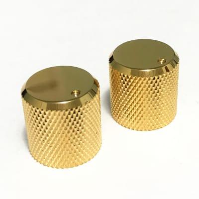 Flat Top Barrel Knobs Gold 6mm Diameter Shaft