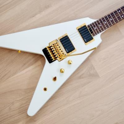 Fernandes BSV-155 Flying V Electric Guitar White w/ EMG 81 Pickups, Japan, Magnum 44 for sale