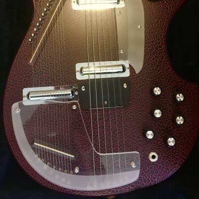 Jerry Jones Guitars Master Electric Sitar 1992 Red Aligator for sale