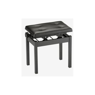 Korg PC-550 Height Adjustable Piano Bench, Black